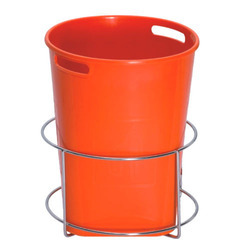 Stainless Steel Silver Dustbin Holder