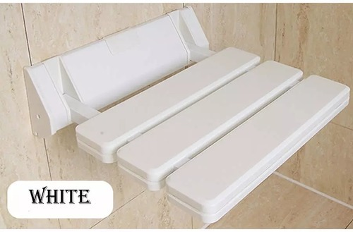 White Folding Steam Shower Seat, Model: 1485, Size: 13 x 13 inch