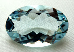 Aquamarine Faceted Oval Gemstone