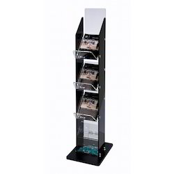 Brown / Black Floor Standing Unit for Magazine, Size: 48 Inch