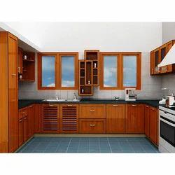 U Shaped Wooden Modular Kitchen