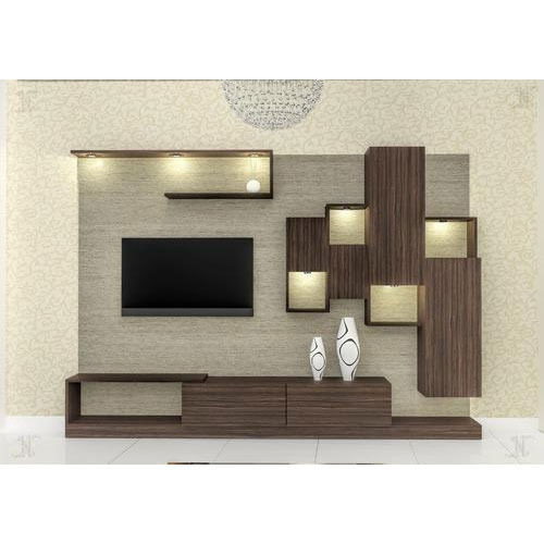 Living Room Cabinet Design In India: Wooden LCD Cabinet At Rs 46000 /unit