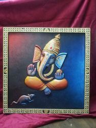 Siting Ganesh Wall Hanging