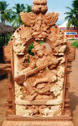 Wooden Statue Saraswati 6 Feet