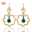 Natural Green Onyx Gemstone Designer Earring