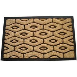 Black Rubberized Coir Brush Mat
