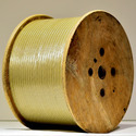 Round Double Glass Fibre Covered Aluminium Wire