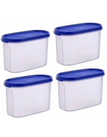 Tupperware MM Oval 1Kg Containers 4 Set Tupperware food storage