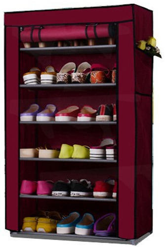 662b9d48aea 6 Layer Multi-Purpose Storage Rack Cum Shoe Rack With Cover ...
