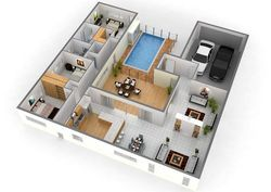 3D Layout Design For Building Architectural Designing