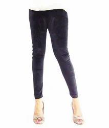 Kyron Fashion Grey Velvet Leggings