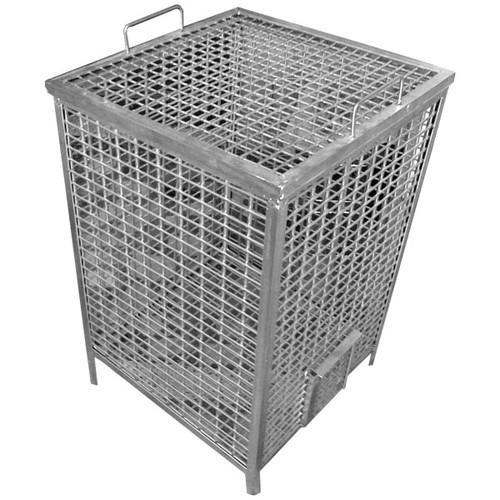 Steel Silver Potato Storage Bin