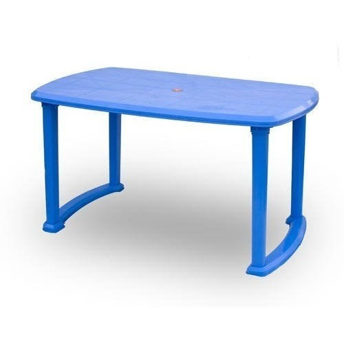 Multi Rectangular Plastic Dining Table Size 4 Seater