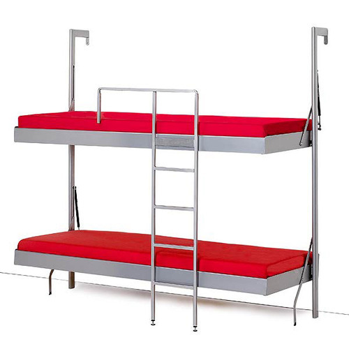 Iron White Wall Folding Bunk Bed Rs 17000 Set Oliver Metal