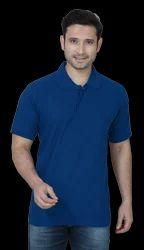 Royal Blue Collar Plain T Shirts