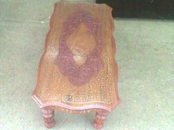 Wooden Carved Stool Table