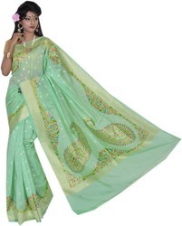 Soft Cotton Banarasi Cotton Sarees, 6.3 M (with Blouse Piece)