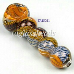 Chunky Glass Smoking Pipe