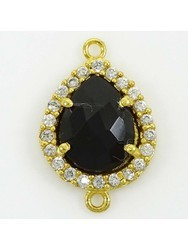 Black Onyx Pave Set Connector