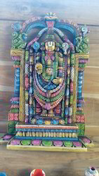 Colourful Divine Wooden Lord Balaji 30 Inches