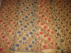 Handloom Cotton Brocade Fabric