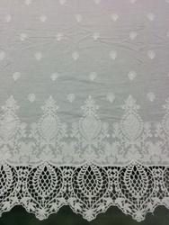 Schiffli Cotton Embroidery with GPO Border, For Garments