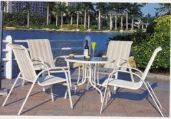 Beach Style Wicker Outdoor Coffee Set