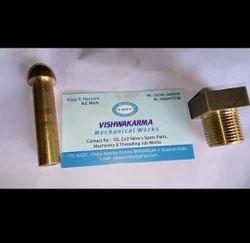 Polished Oxygen Brass Manifold Nut Nipple/ Square Nut, Size: 28mm