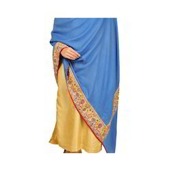 Pure Pashmina Antique Jama Embroidery Border Shawl