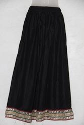 Party Wear Rayon Plain Skirt