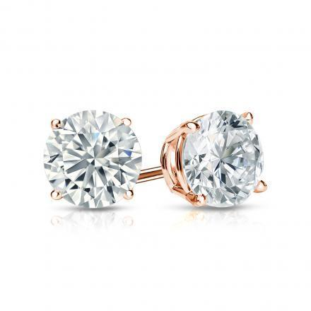 Jenujewel Designer Moissanite Rose Gold Earrings