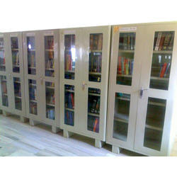 4 Glass Door Model Made Library Almirah