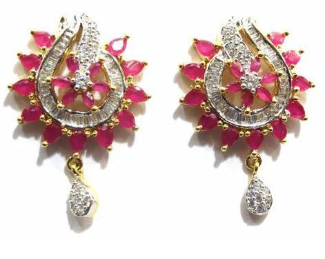 51764e512 Jewelshingar American Diamond Studs Earrings, Diamond Ear Stud ...
