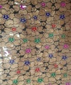 Banarasi Meena Jacquard Fabric Flower