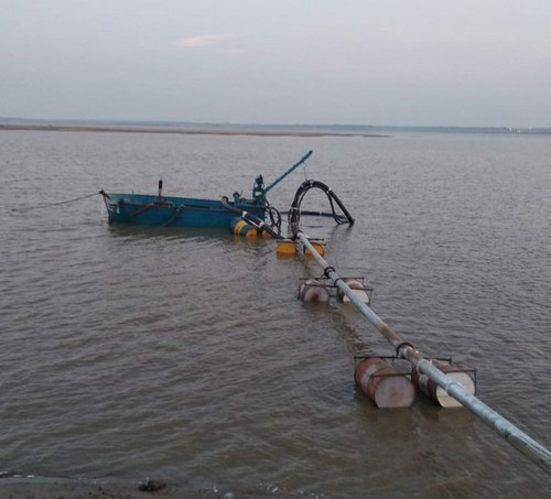 M.s Dredge machine for sand mining, Max Flow Rate: 1500 Rpm