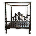 Antique Wood Bed For Home
