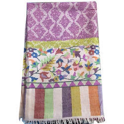 Pashmina Kani Embroidery With Zari Scarves