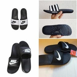 Black Men Flip Flop Slippers, Size: 6-11