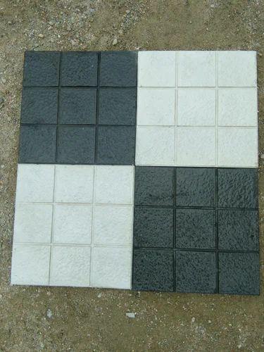 9box Block White And Black Designer Parking Tiles