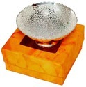 Silver Plated Glass Bowl