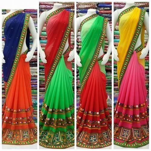 414b383f24431 Kutch Work Sarees - Georgette Work Saree Wholesaler from Noida
