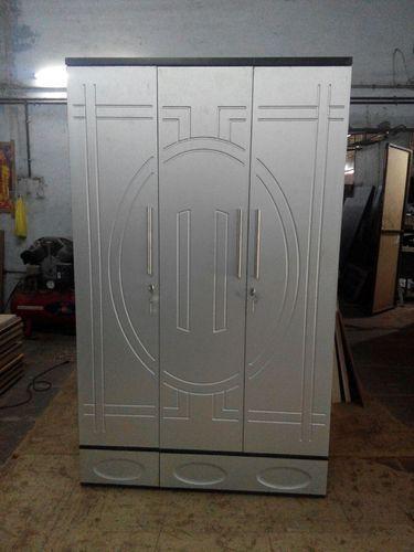 Modern Wardrobe Almirah Designs 3 Door Hard Wood Almirah