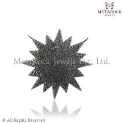 Micro Pave Diamond Starburst Charms