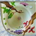 Glass Corner Basin