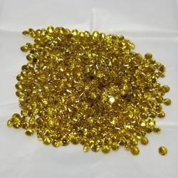 Lab Grown Yellow CVD Diamonds, Size: 1.00 to 2.00 mm