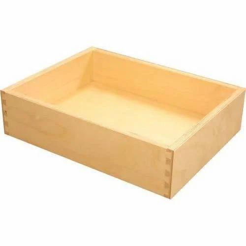 open top wooden shadow box wooden ply box प ल ईव ड