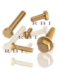 Stainless Steel Round Brass Bolt, For Industrial, Packaging Type: Packet