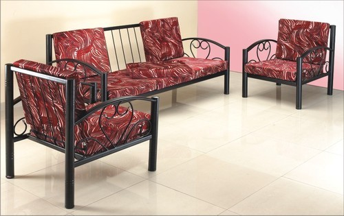 Standard Mild Steel Metal Sofa Set For, Iron Sofa Set Designs
