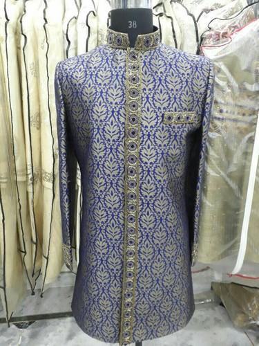 bb7ff3f1bcc3ab Navy Blue Embroidered Party Wear Sherwani, Rs 3850 /piece | ID ...