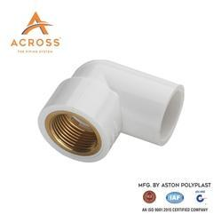 Across UPVC Brass Elbow, Size: 2 inch, for Structure Pipe